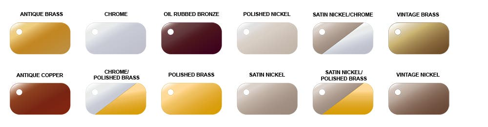 colors finishes kingston brass
