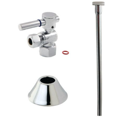 Kingston Brass CC43101DLTKF20 Modern Plumbing Toilet Trim Kit, Polished Chrome