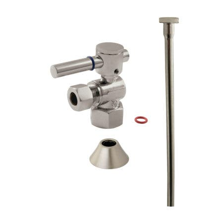 Kingston Brass CC43108DLTKF20 Modern Plumbing Toilet Trim Kit, Brushed Nickel
