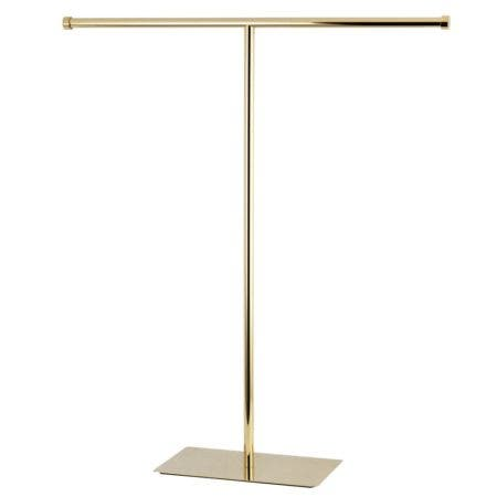 Kingston Brass CC8202 Claremont T-Shape Towel Rack, Polished Brass