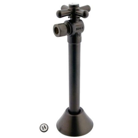 """Kingston Brass CC83205X 1/2"""" Sweat X 3/8"""" OD Comp Angle Shut-Off Valve with 5"""" Extension, Oil Rubbed Bronze"""