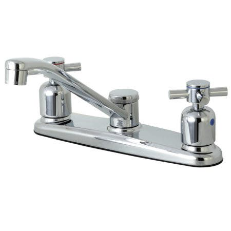 Kingston Brass FB111DX Centerset Kitchen Faucet, Polished Chrome