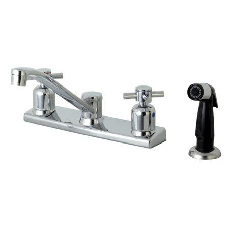 Kingston Brass FB122DX Centerset Kitchen Faucet, Polished Chrome