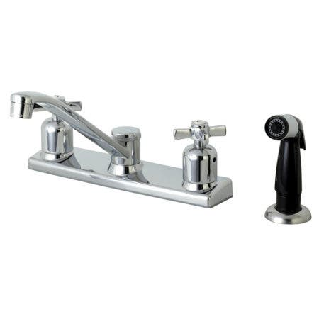 Kingston Brass FB122ZX Centerset Kitchen Faucet, Polished Chrome