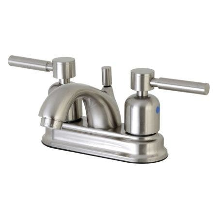 Kingston Brass FB2608DL 4 in. Centerset Bathroom Faucet, Brushed Nickel