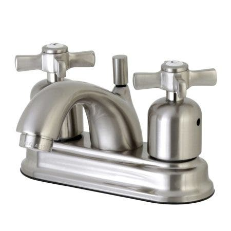 Kingston Brass FB2608ZX 4 in. Centerset Bathroom Faucet, Brushed Nickel