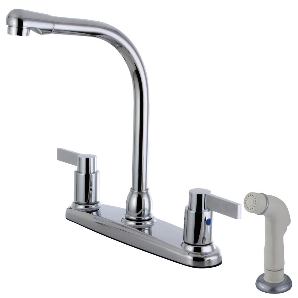 Kingston Brass FB2751NDL 8-Inch Center High-Arch Kitchen Faucet, Polished Chrome