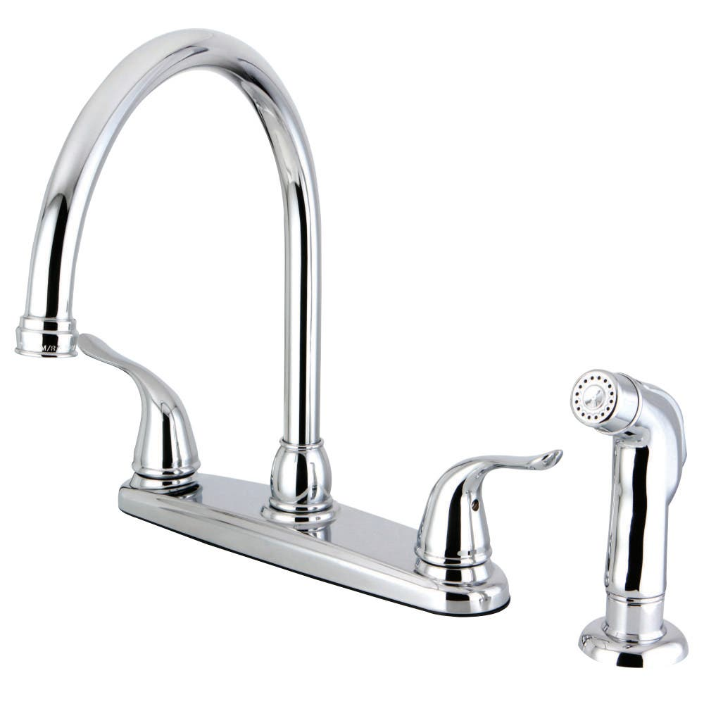 Kingston Brass FB2791YLSP Centerset Kitchen Faucet, Polished Chrome