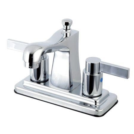 Kingston Brass FB4641NDL 4 in. Centerset Bathroom Faucet, Polished Chrome