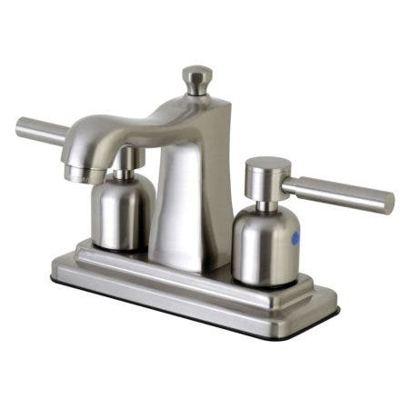 Kingston Brass FB4648DL 4 in. Centerset Bathroom Faucet, Brushed Nickel