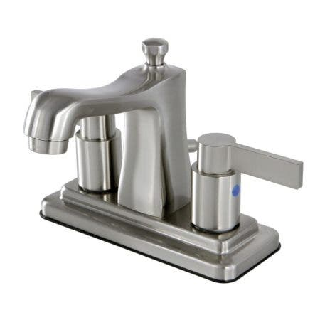 Kingston Brass FB4648NDL 4 in. Centerset Bathroom Faucet, Brushed Nickel