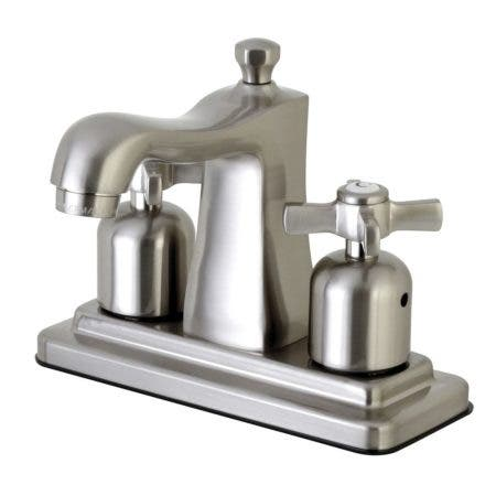 Kingston Brass FB4648ZX 4 in. Centerset Bathroom Faucet, Brushed Nickel