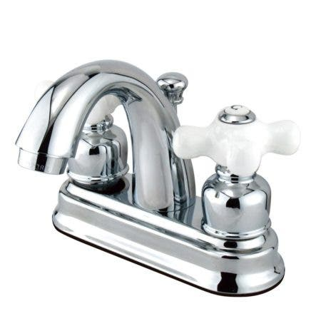 Kingston Brass FB5611PX 4 in. Centerset Bathroom Faucet, Polished Chrome