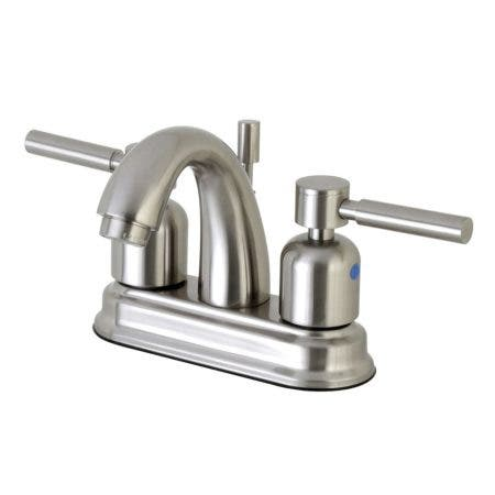 Kingston Brass FB5618DL 4 in. Centerset Bathroom Faucet, Brushed Nickel