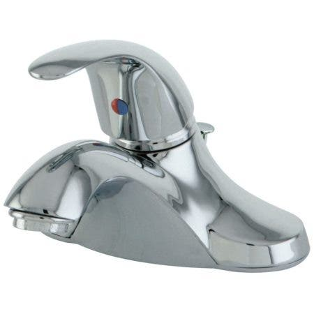 Kingston Brass FB6541LL Single-Handle 4 in. Centerset Bathroom Faucet, Polished Chrome