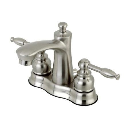 Kingston Brass FB7618KL 4 in. Centerset Bathroom Faucet, Brushed Nickel