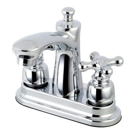 Kingston Brass FB7621AX 4 in. Centerset Bathroom Faucet, Polished Chrome