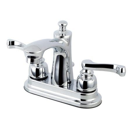 Kingston Brass FB7621FL 4 in. Centerset Bathroom Faucet, Polished Chrome