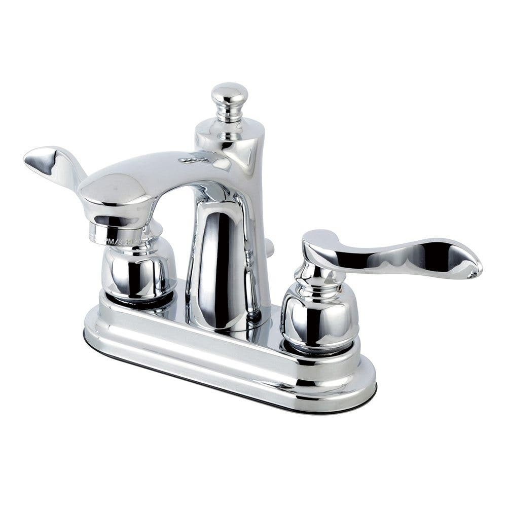 Kingston Brass FB7621NFL 4 in. Centerset Bathroom Faucet, Polished Chrome