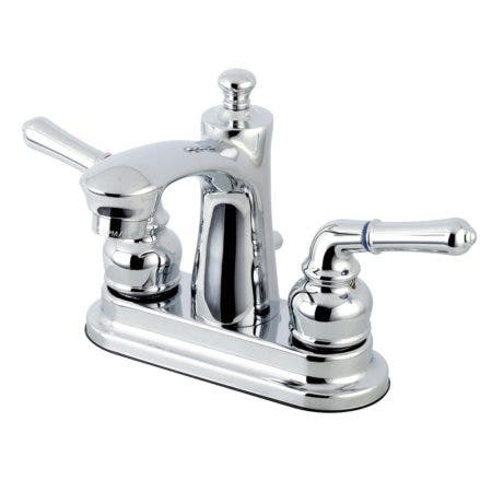 Kingston Brass FB7621NML 4 in. Centerset Bathroom Faucet, Polished Chrome