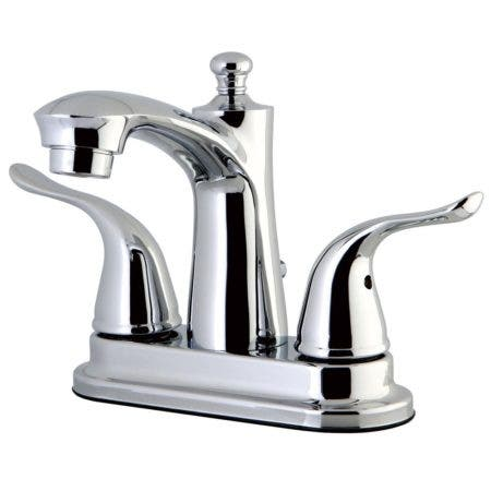 Kingston Brass FB7621YL 4 in. Centerset Bathroom Faucet, Polished Chrome