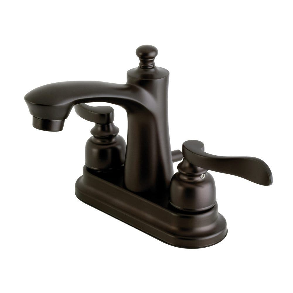 Kingston Brass FB7625NFL 4 in. Centerset Bathroom Faucet, Oil Rubbed Bronze