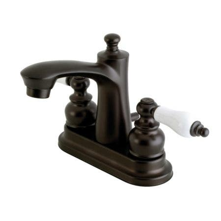 Kingston Brass FB7625PL 4 in. Centerset Bathroom Faucet, Oil Rubbed Bronze