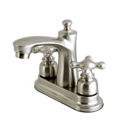 Kingston Brass FB7628AX 4 in. Centerset Bathroom Faucet, Brushed Nickel
