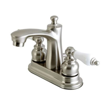 Kingston Brass FB7628PL 4 in. Centerset Bathroom Faucet, Brushed Nickel