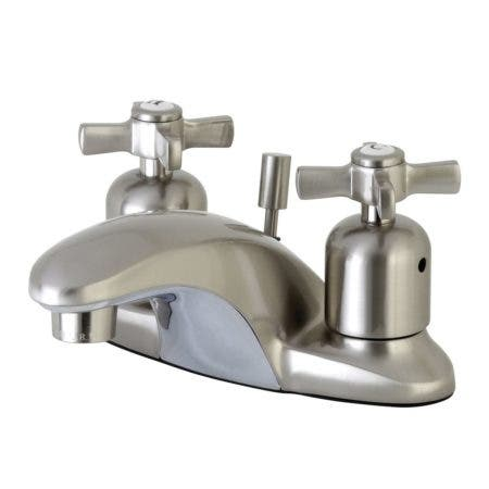 Kingston Brass FB8628ZX 4 in. Centerset Bathroom Faucet, Brushed Nickel