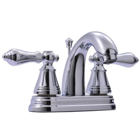 Fauceture FSY7611AL English Classic 4 in. Centerset Bathroom Faucet with Retail Pop-Up, Polished Chrome