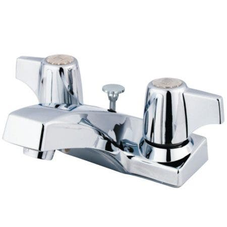 Kingston Brass GKB100B 4 in. Centerset Bathroom Faucet, Polished Chrome