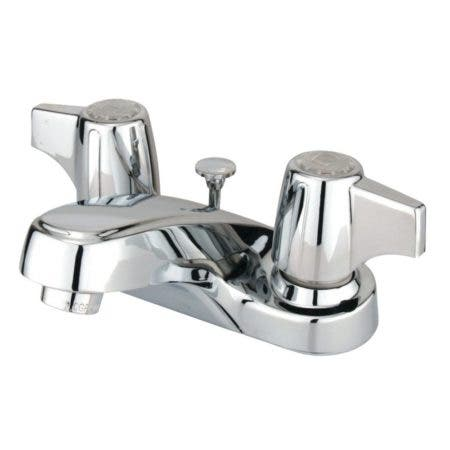Kingston Brass GKB160B 4 in. Centerset Bathroom Faucet, Polished Chrome