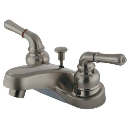 Kingston Brass GKB258 4 in. Centerset Bathroom Faucet, Brushed Nickel