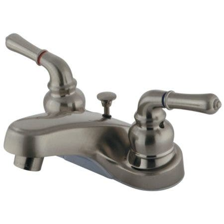 Kingston Brass GKB258B 4 in. Centerset Bathroom Faucet, Brushed Nickel