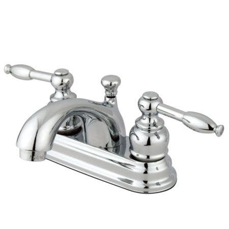 Kingston Brass GKB2601KL 4 in. Centerset Bathroom Faucet, Polished Chrome
