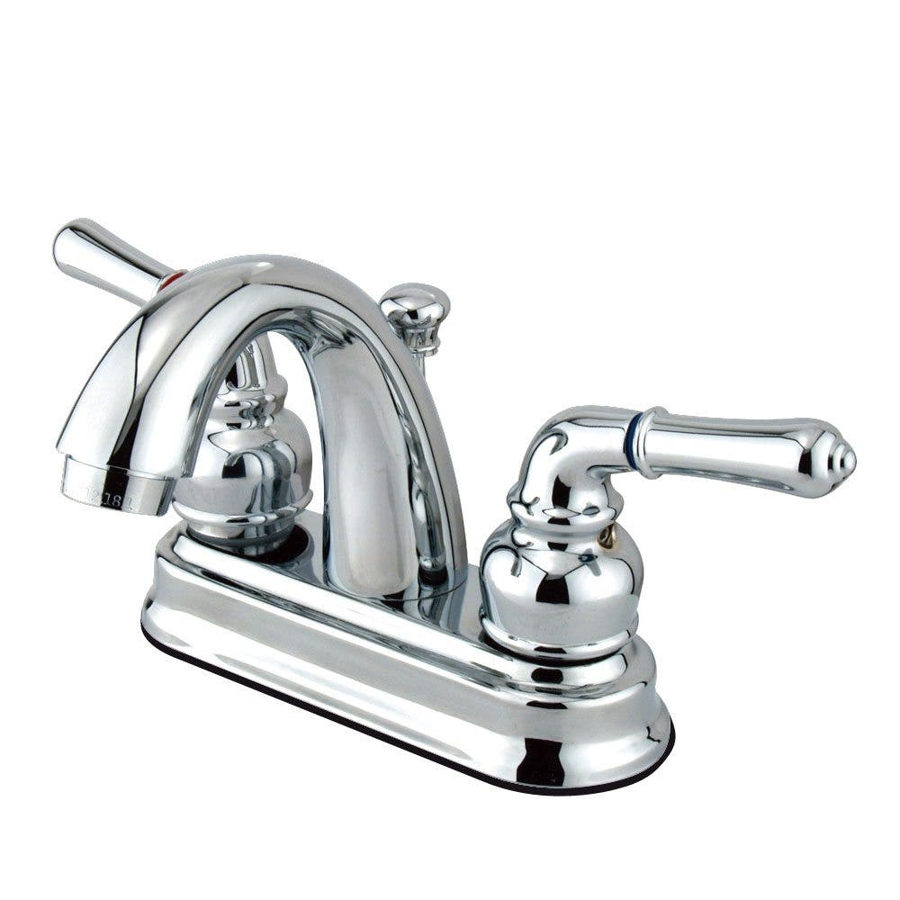 Kingston Brass GKB5611NML 4 in. Centerset Bathroom Faucet, Polished Chrome