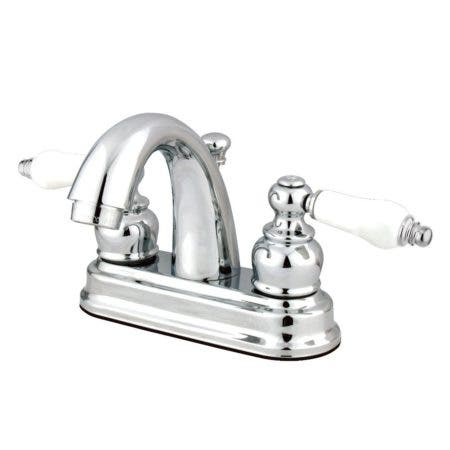 Kingston Brass GKB5611PL 4 in. Centerset Bathroom Faucet, Polished Chrome