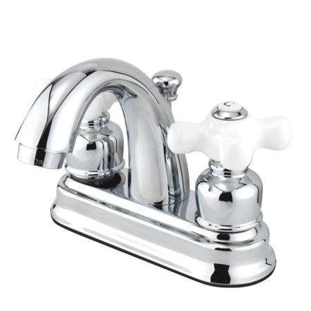 Kingston Brass GKB5611PX 4 in. Centerset Bathroom Faucet, Polished Chrome