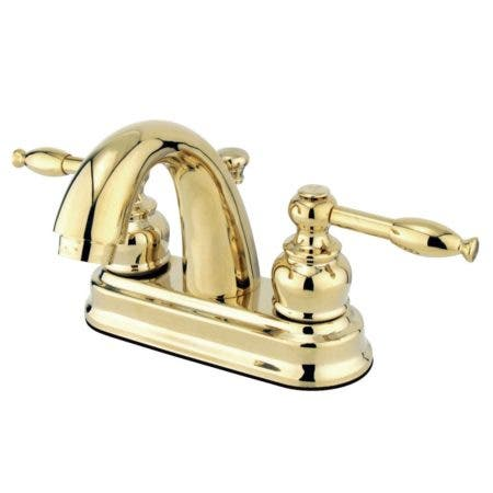 Kingston Brass GKB5612KL 4 in. Centerset Bathroom Faucet, Polished Brass