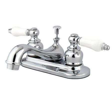 Kingston Brass GKB601PL 4 in. Centerset Bathroom Faucet, Polished Chrome