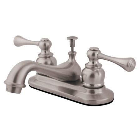 Kingston Brass GKB608BL 4 in. Centerset Bathroom Faucet, Brushed Nickel