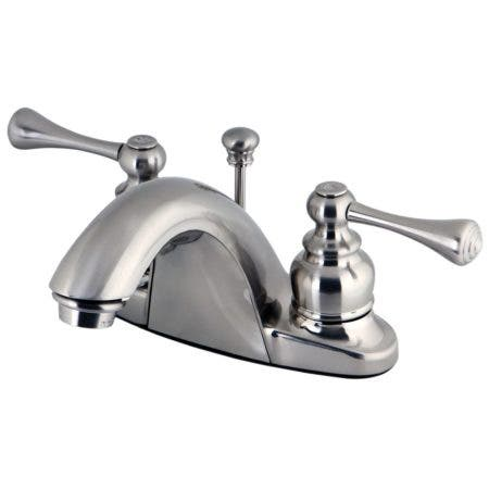 Kingston Brass GKB7648BL 4 in. Centerset Bathroom Faucet, Brushed Nickel