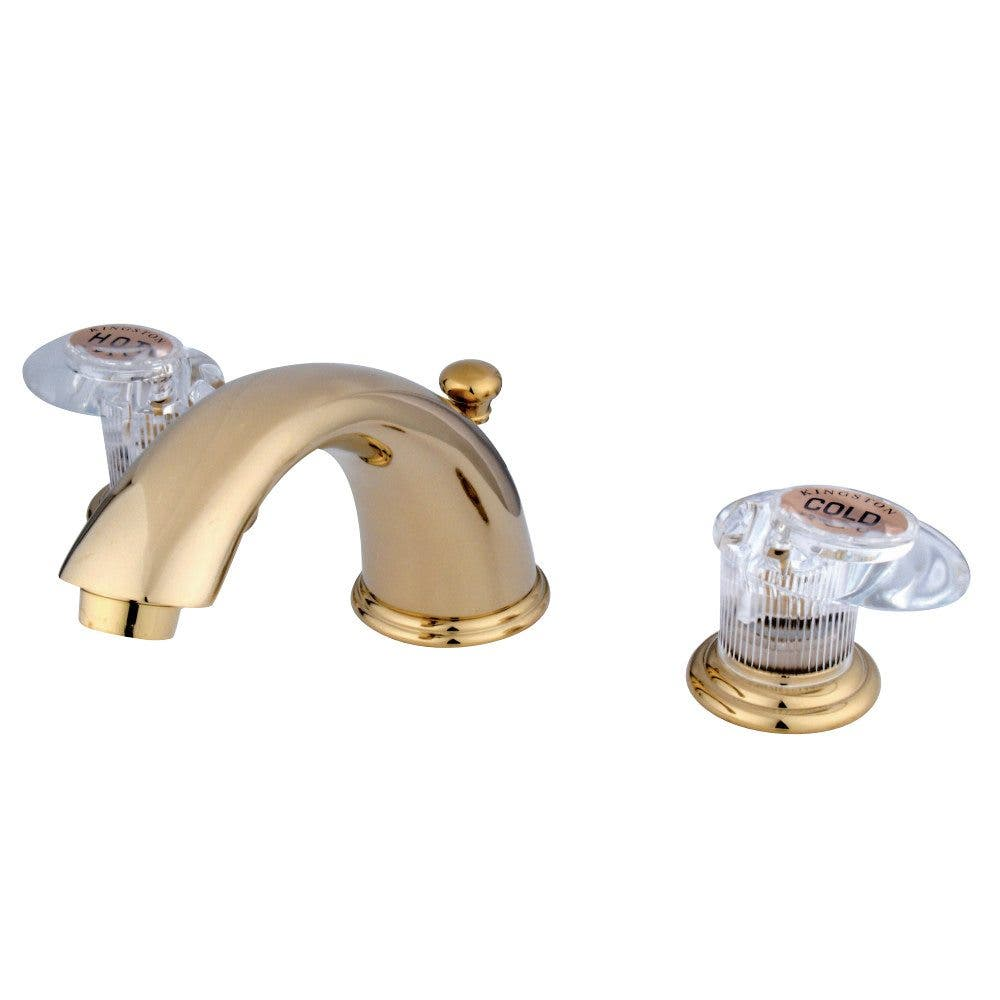 Kingston Brass GKB962ALL Widespread Bathroom Faucet, Polished Brass