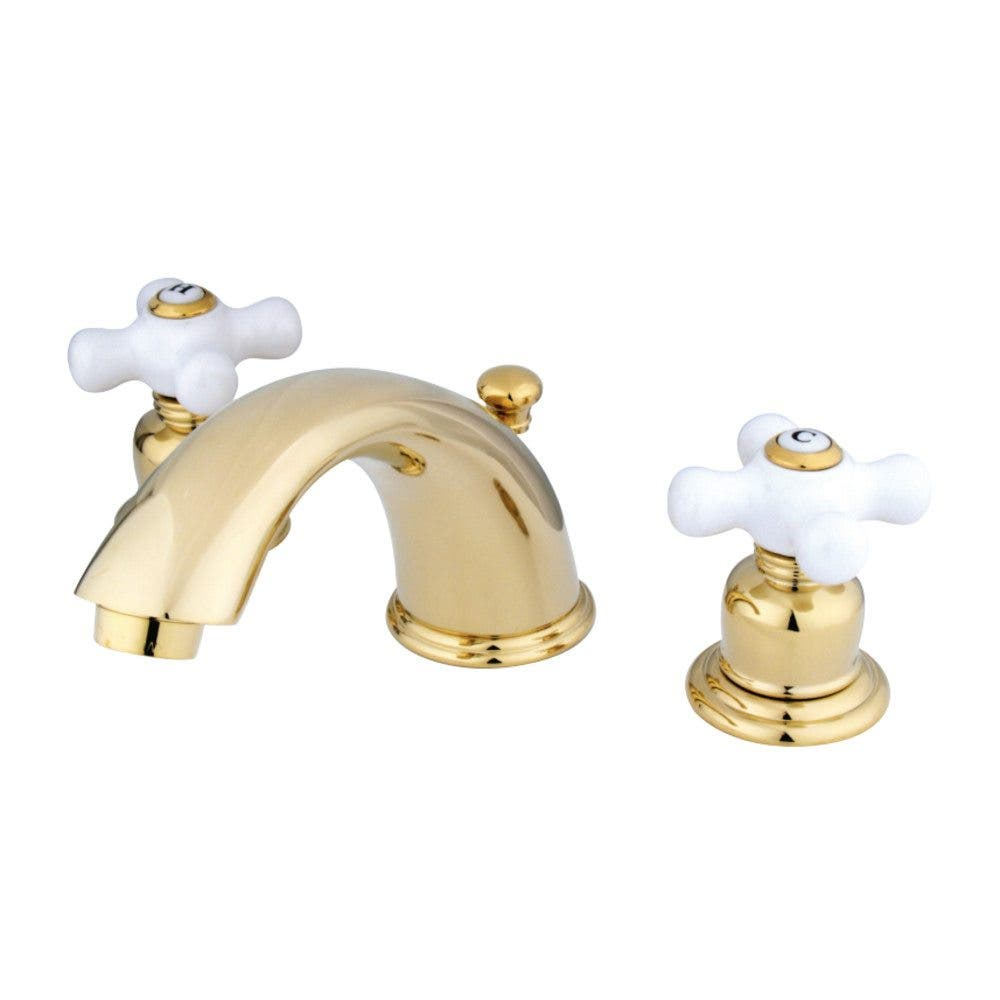 Kingston Brass GKB962PX Widespread Bathroom Faucet, Polished Brass