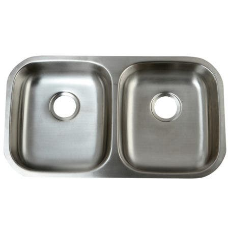 Gourmetier GKUD32194 Undermount Double Bowl Kitchen Sink, Brushed
