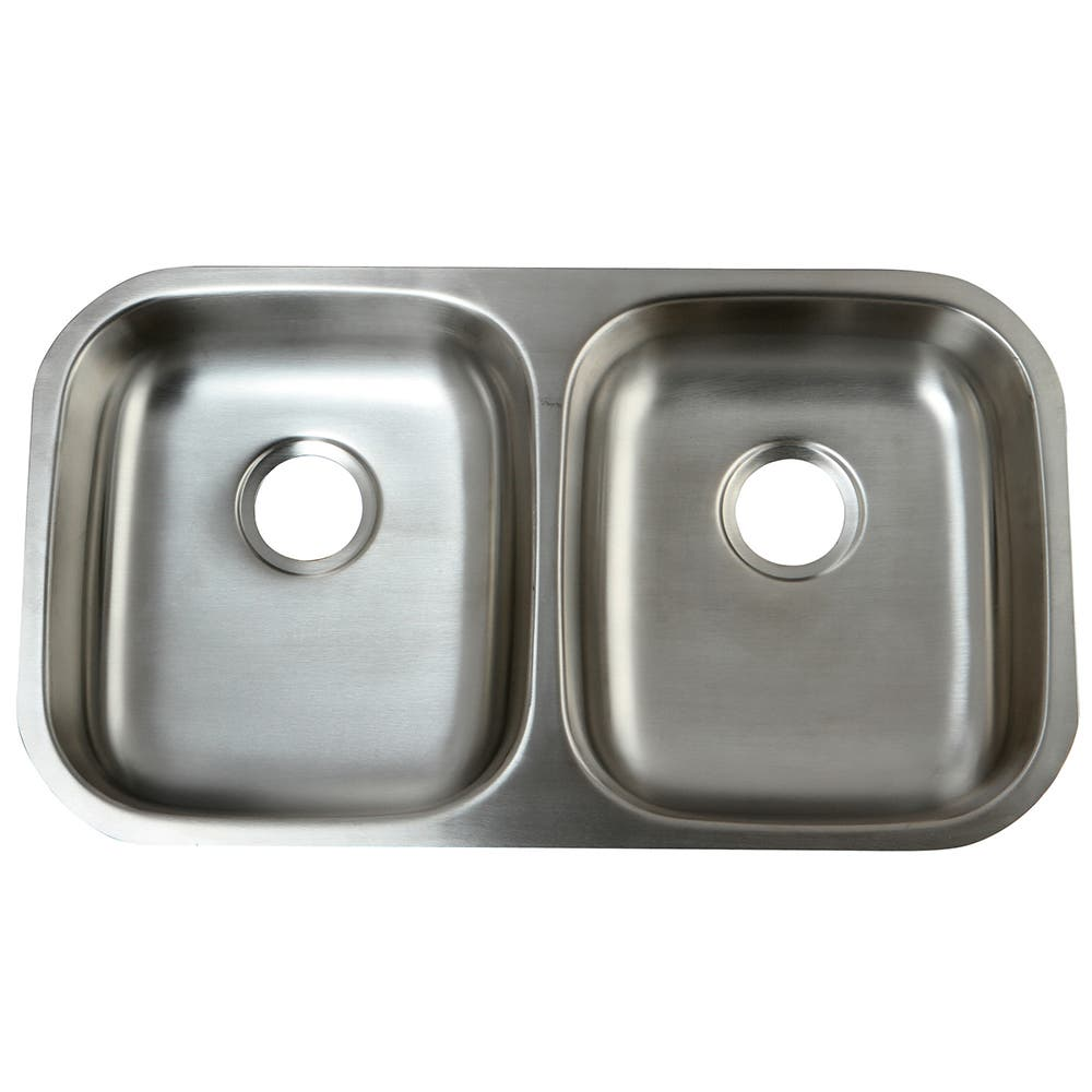 Gourmetier GKUD32194 Undermount Double Bowl Kitchen Sink, Stainless ...
