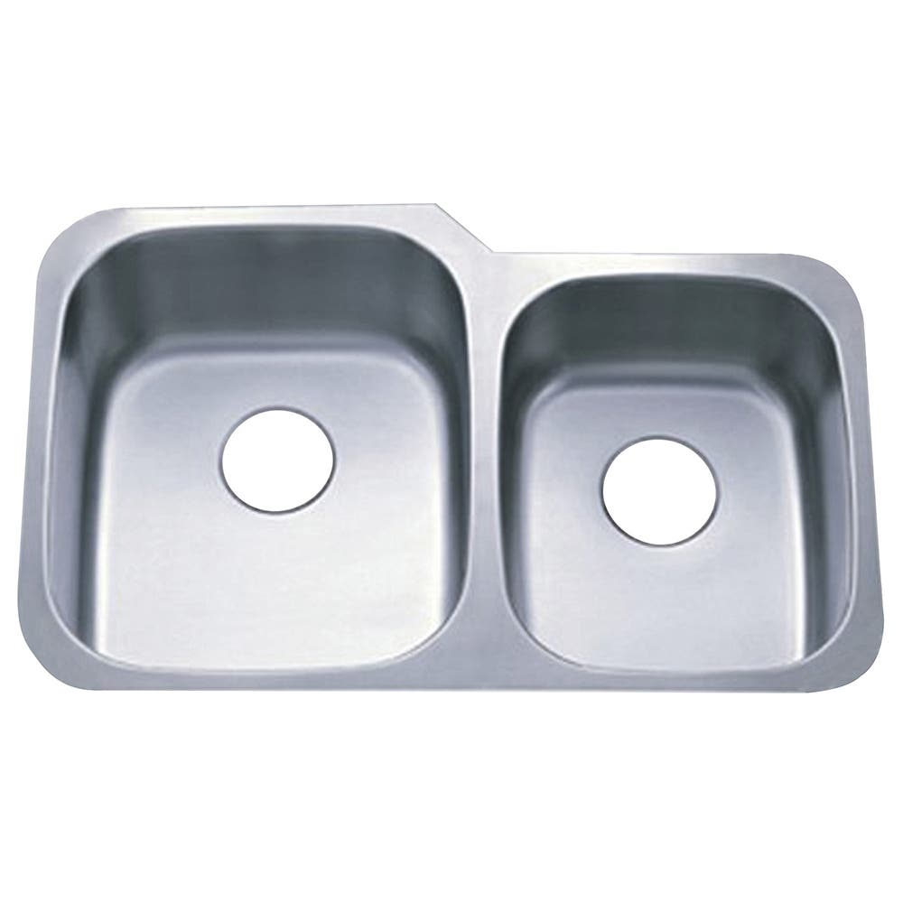 Gourmetier GKUD3221 Undermount Double Bowl Kitchen Sink, Brushed