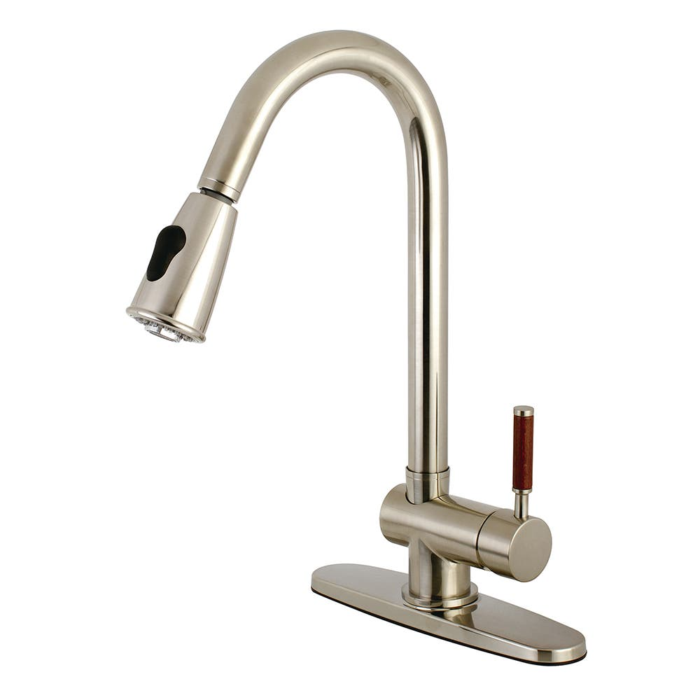 Gourmetier GS8898DWL Wilshire Single-Handle Pull-Down Kitchen Faucet, Brushed Nickel