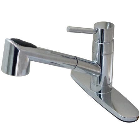 Gourmetier GSC8571WDL Wilshire Single-Handle Pull-Out Kitchen Faucet, Polished Chrome